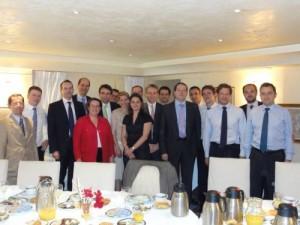 Petit-déjeuner organisé à l'Hôtel de Brienne (Ministère de la Défense) dans le cadre du club informel des Essec évoluant en politique.