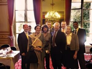 Petit-déjeuner organisé au Sénat, en présence de Mme Marie-Thérèse Hermange, Sénateur de Paris.