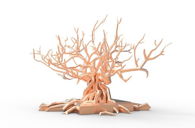 1ère maquette de l'arbre en 3D