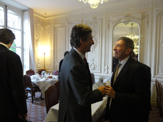 Petit déjeuner du Club de l'Audace avec Nicolas de Tavernost
