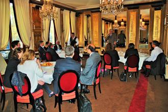 Petit déjeuner organisé au Fouquet's à Paris pour présenter l'International Private Equity Market – IPEM